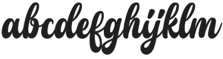 Young Coconut Script  otf (400) Font LOWERCASE