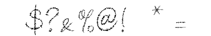 Yore script Font OTHER CHARS