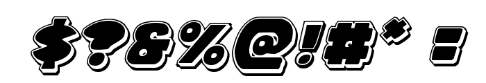 Zounderkite Punch Italic Font OTHER CHARS