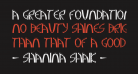 A Greater Foundation