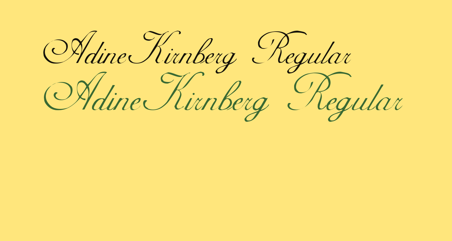 AdineKirnberg Regular