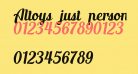 Altoys just personal only Italic