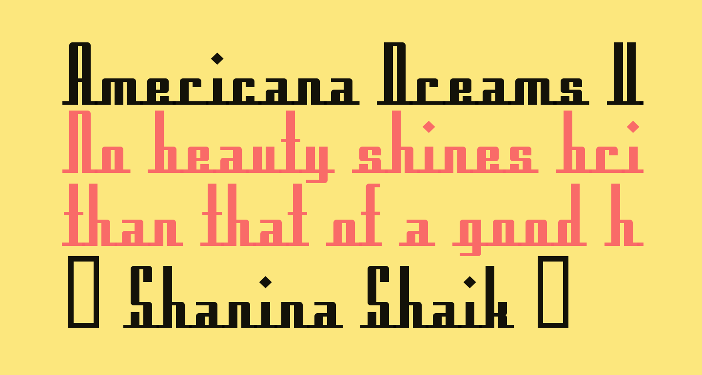 Americana Dreams Upright Bold