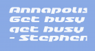 Annapolis Lower Case Expanded Italic