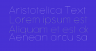 Aristotelica Text Trial Hairline