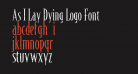 As I Lay Dying Logo Font