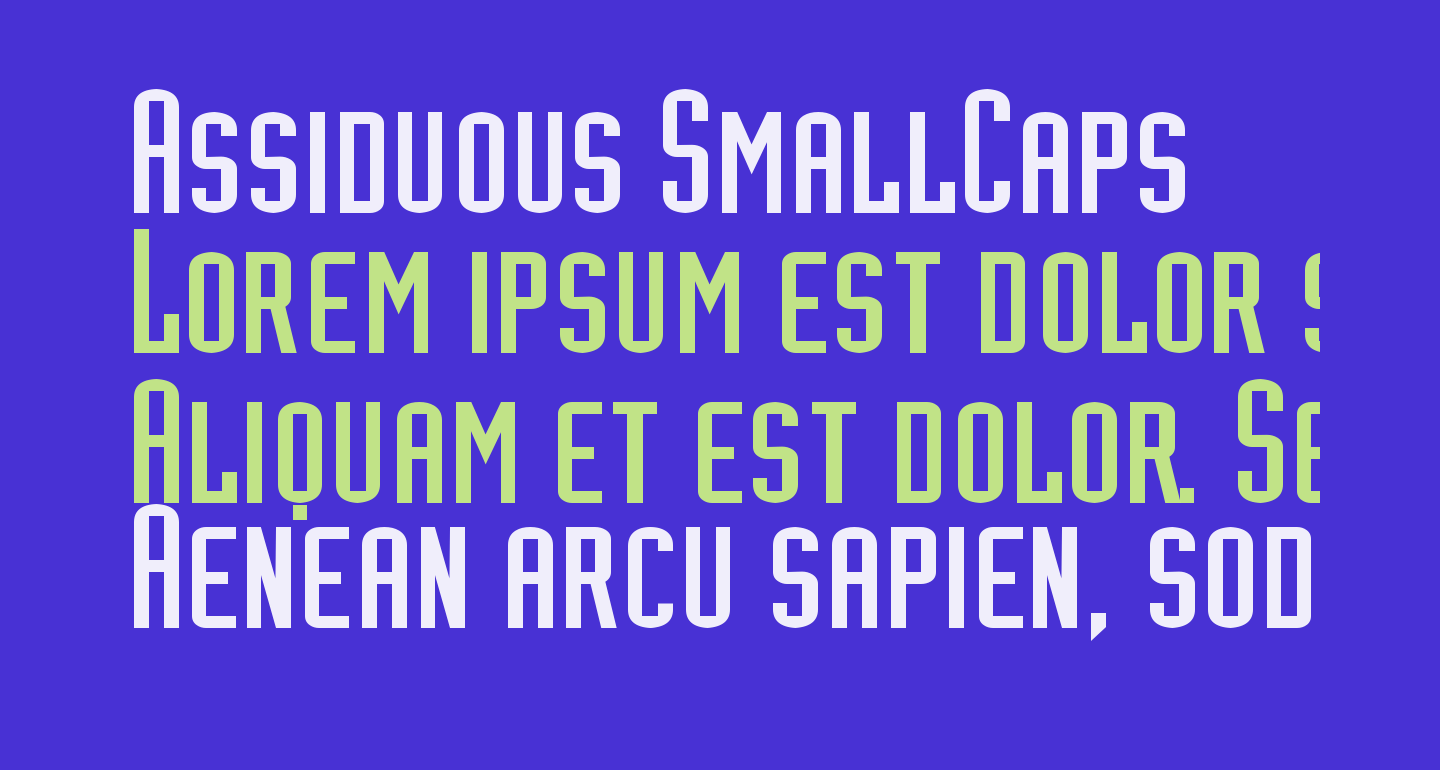 Assiduous SmallCaps