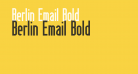 Berlin Email Bold