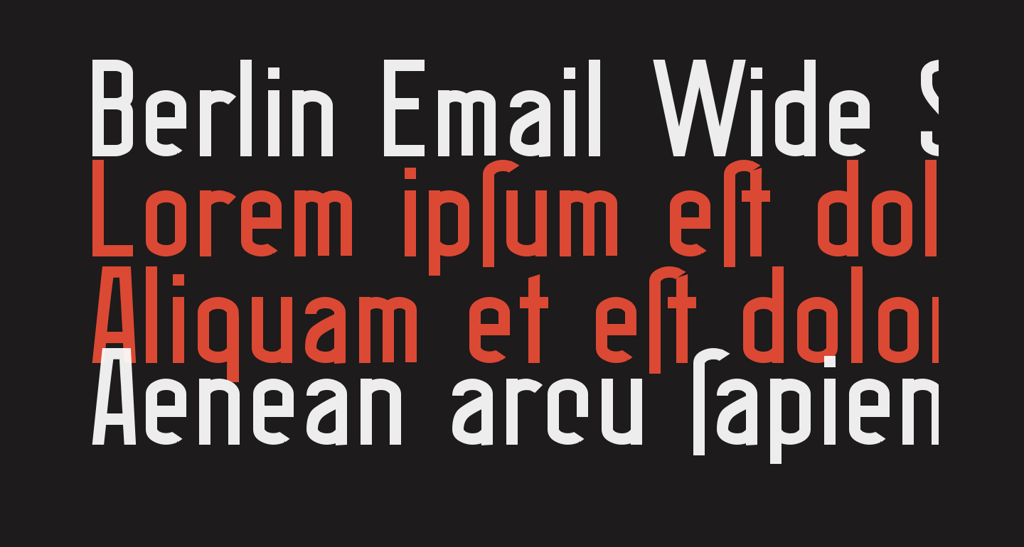 Berlin Email Wide Semibold