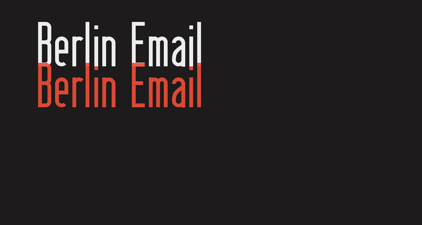 Berlin Email