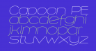 Capoon PERSONAL USE Thin Italic