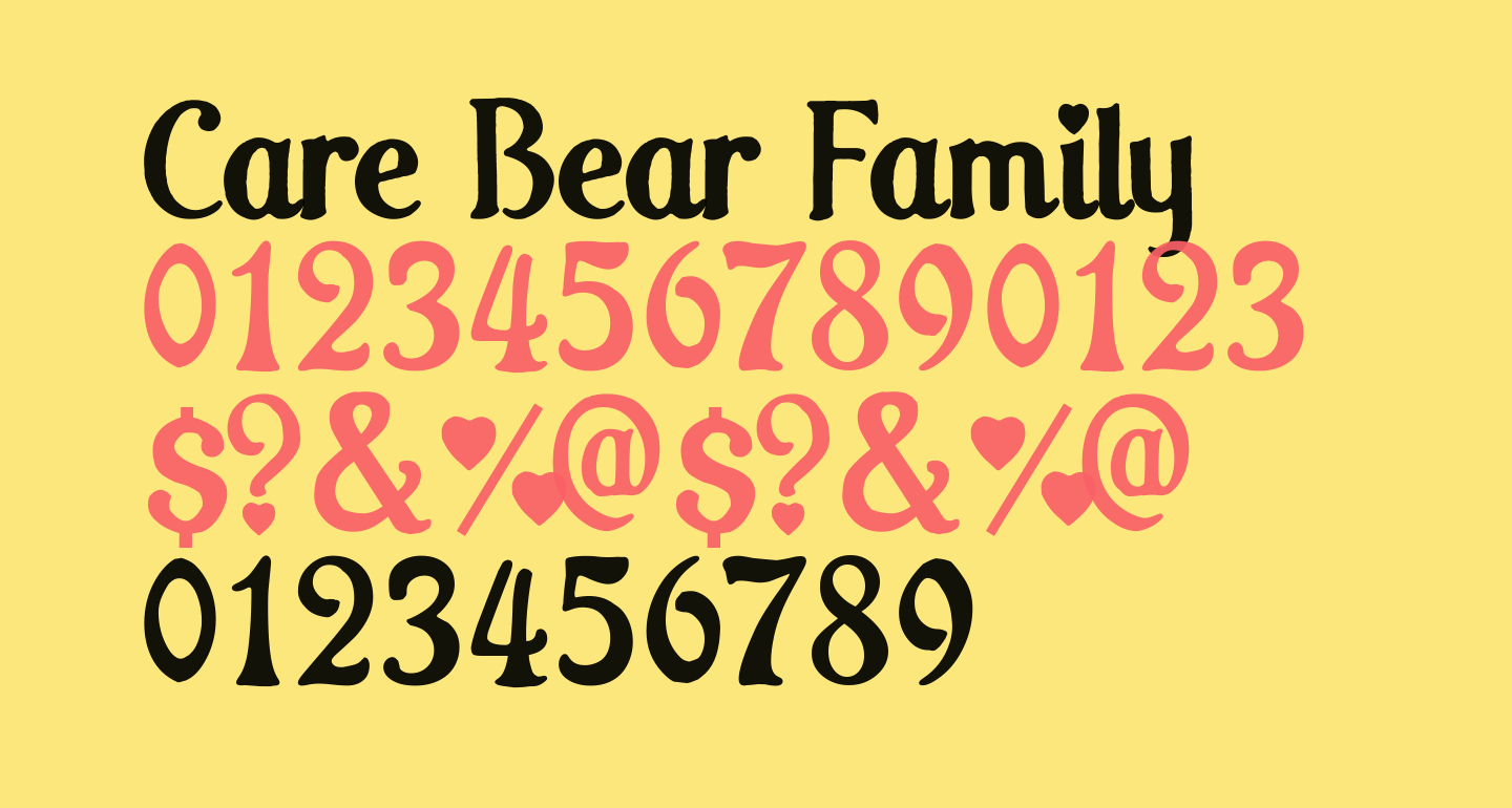 Care Bear Family