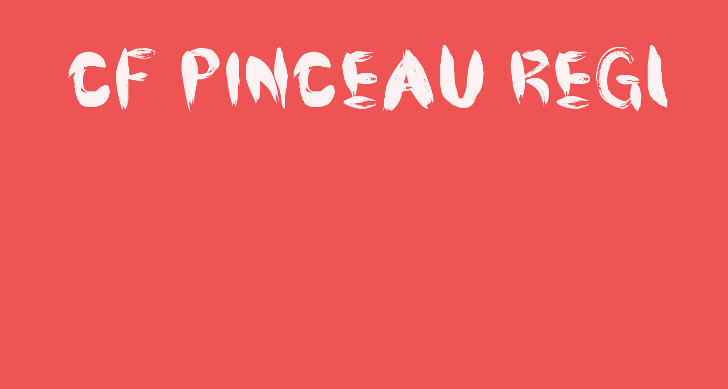 CF Pinceau Regular