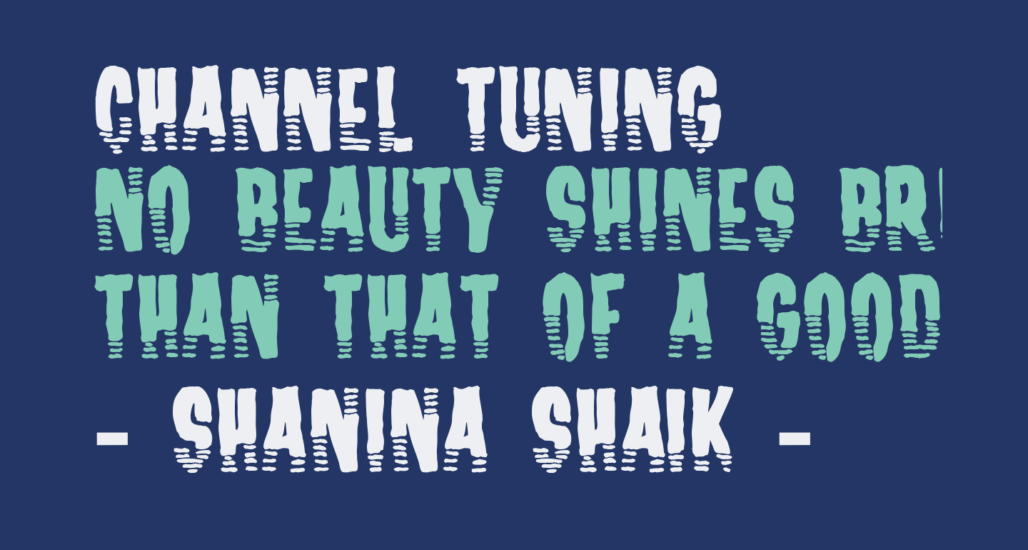 Channel Tuning