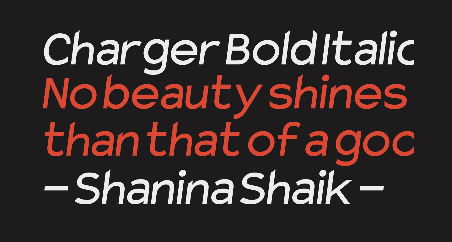 Charger Bold Italic