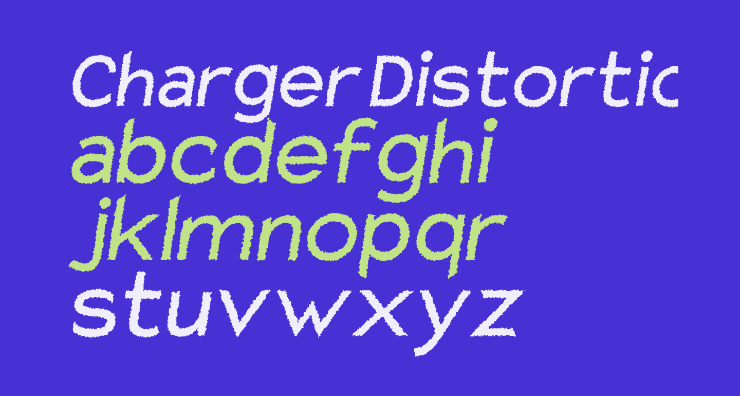 Charger Distortion 1 Italic