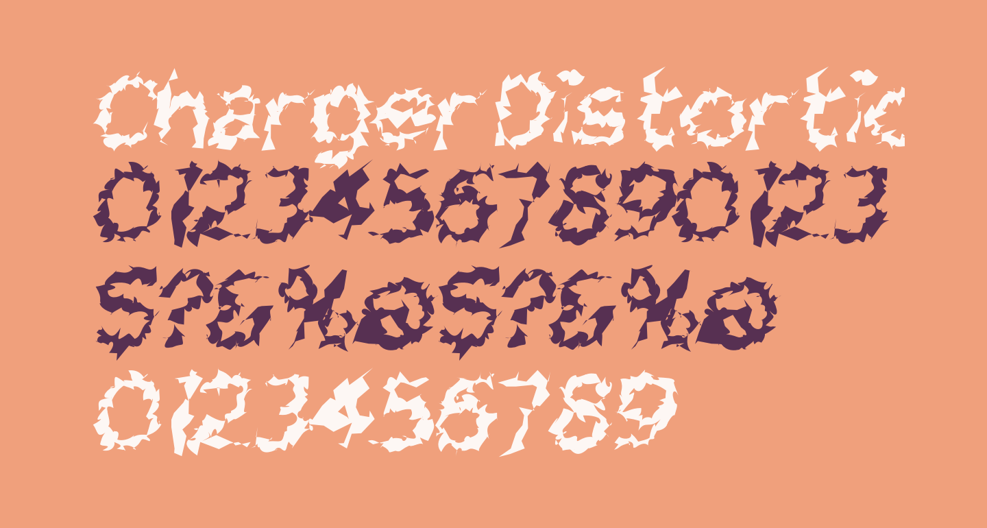 Charger Distortion 2 Italic