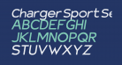 Charger Sport SemiBold Extended Oblique