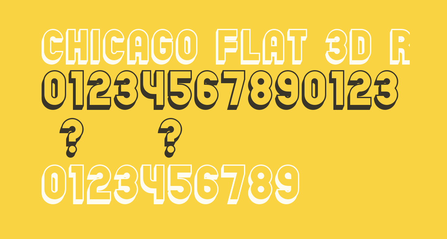 Chicago Flat 3D Regular