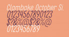 Clambake October Six Light Italic