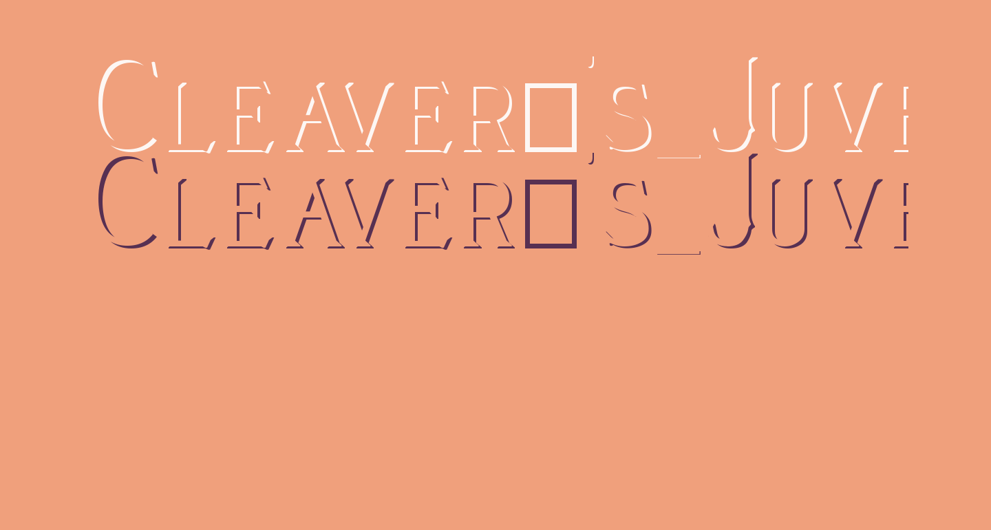 Cleaver's_Juvenia_Embossed