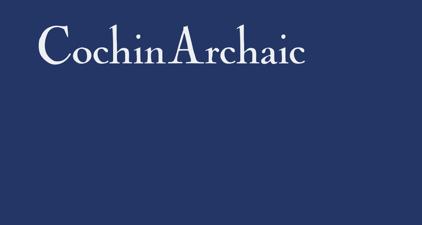 CochinArchaic