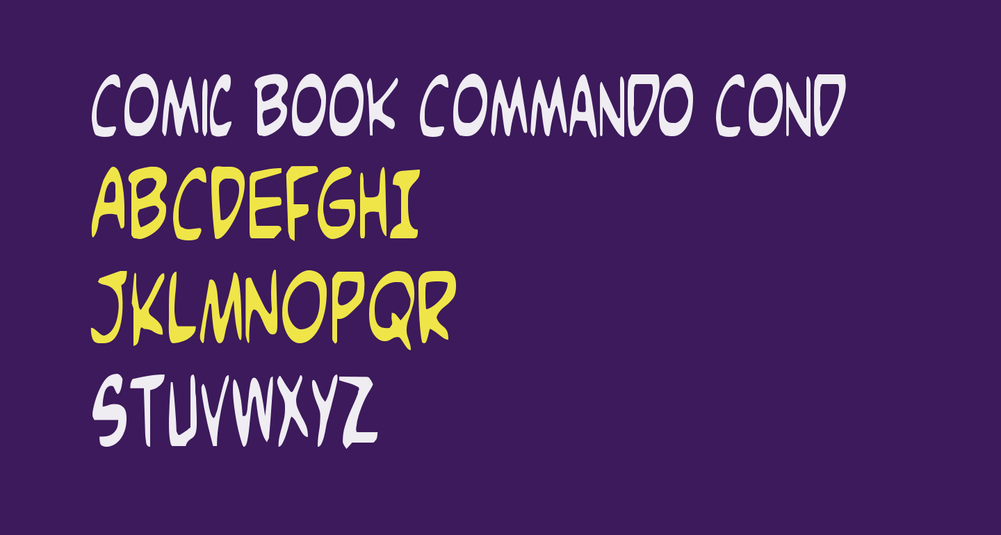 Comic Book Commando Cond
