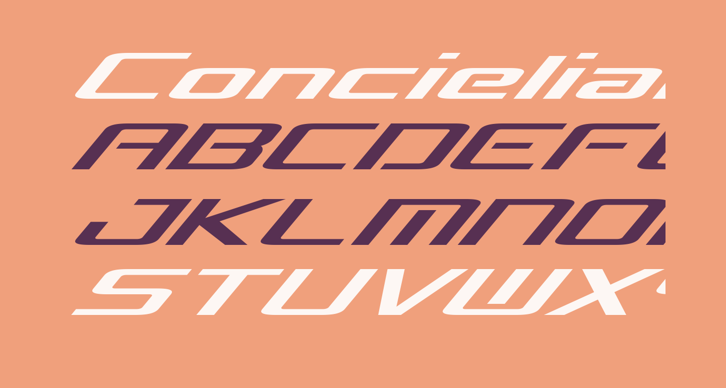 Concielian Break Expanded Italic