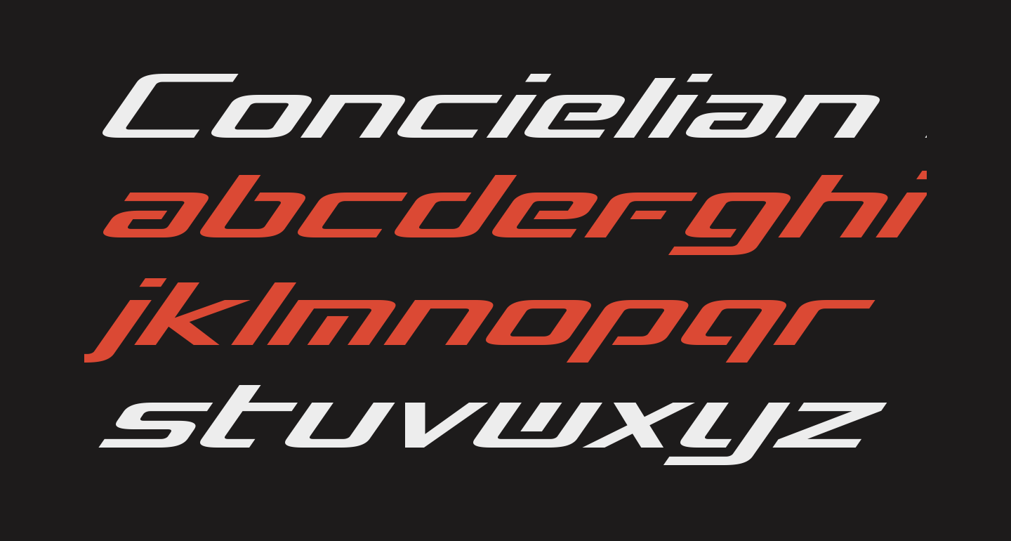 Concielian Break Italic