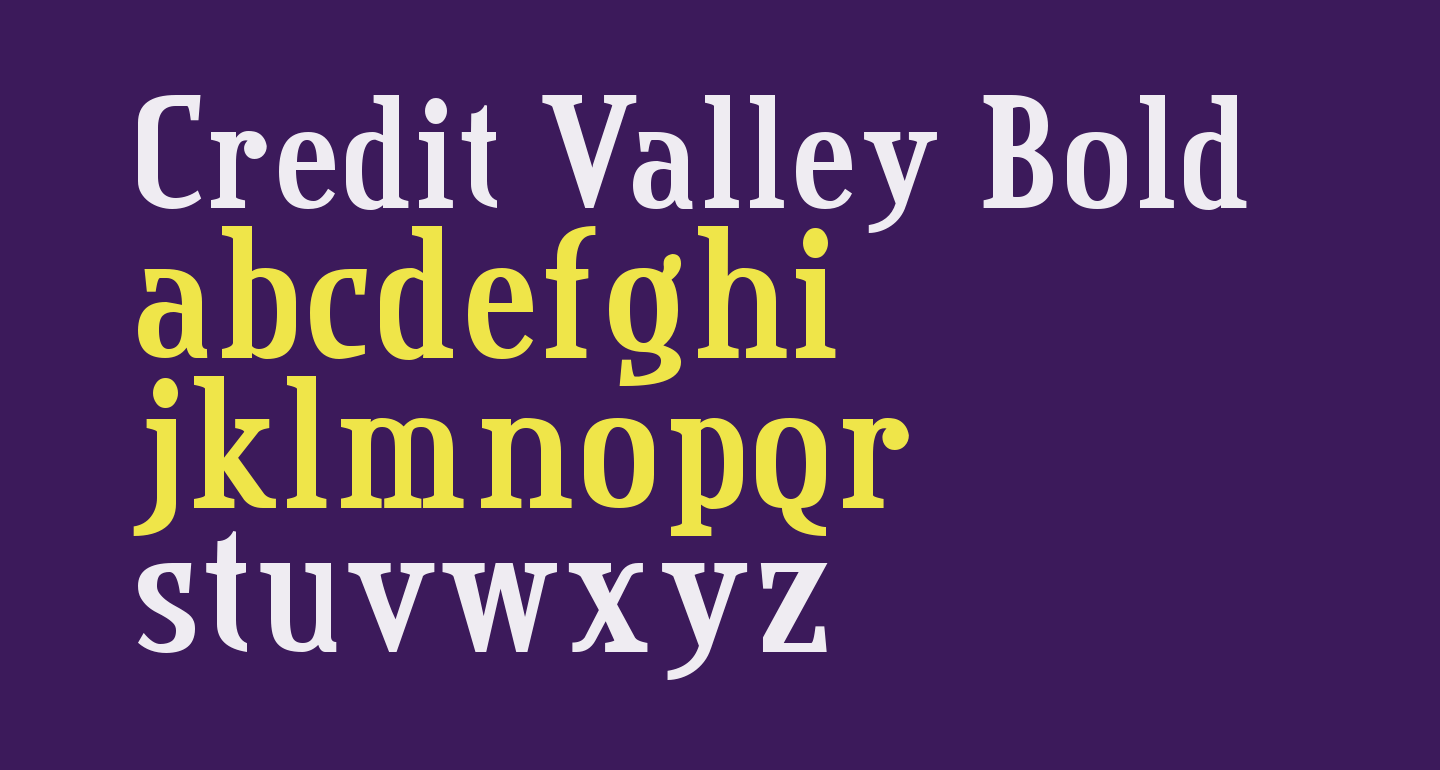 Credit Valley Bold