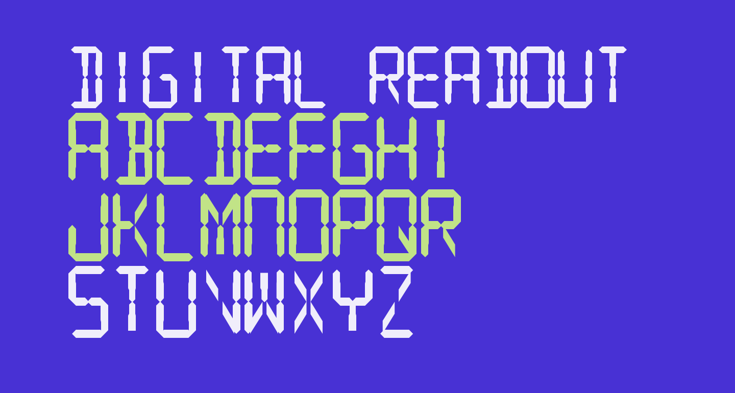 Digital Readout Thick Upright
