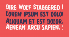 Dire Wolf Staggered Regular