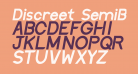 Discreet SemiBold Inclined