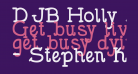DJB Holly Serif Bold