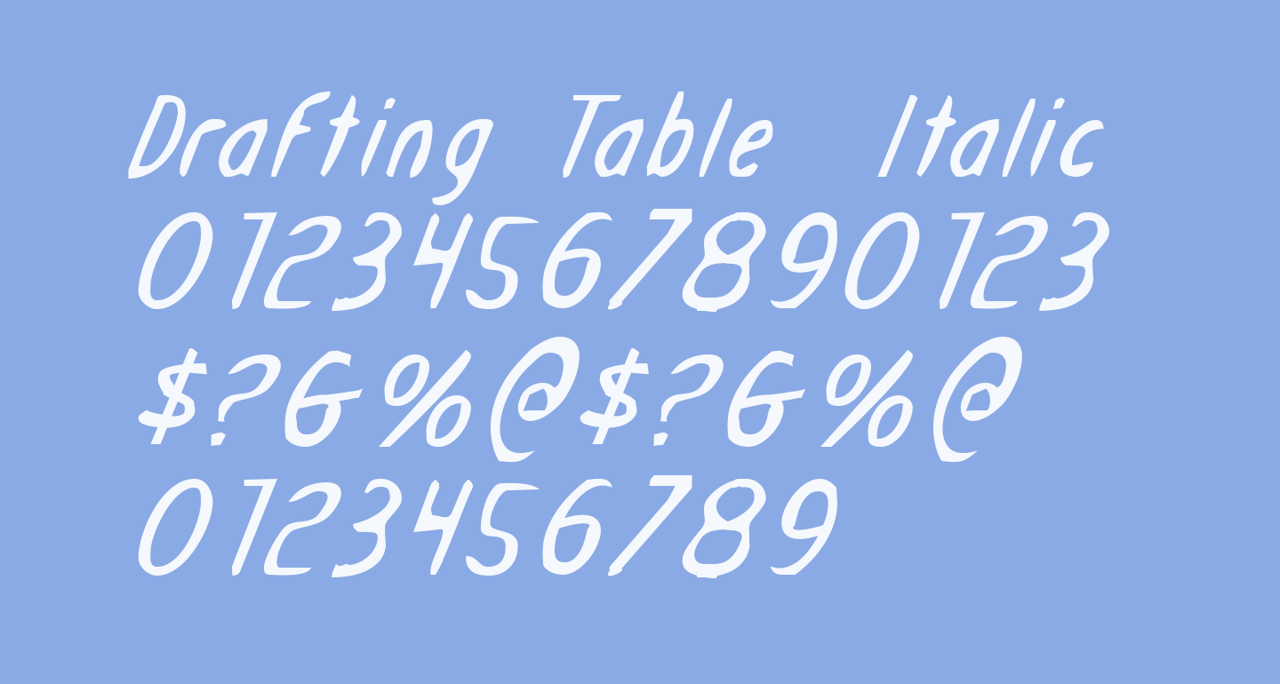 Drafting Table  Italic