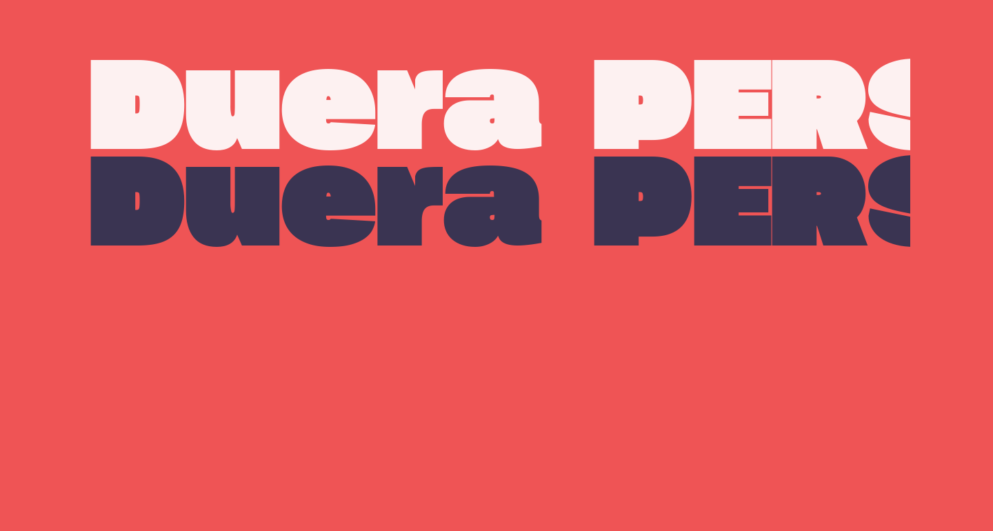 Duera PERSONAL USE Expanded Black