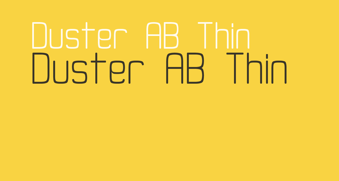Duster AB Thin