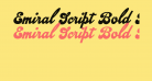 Emiral Script Bold PERSONAL USE