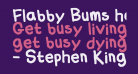 Flabby Bums handwriting