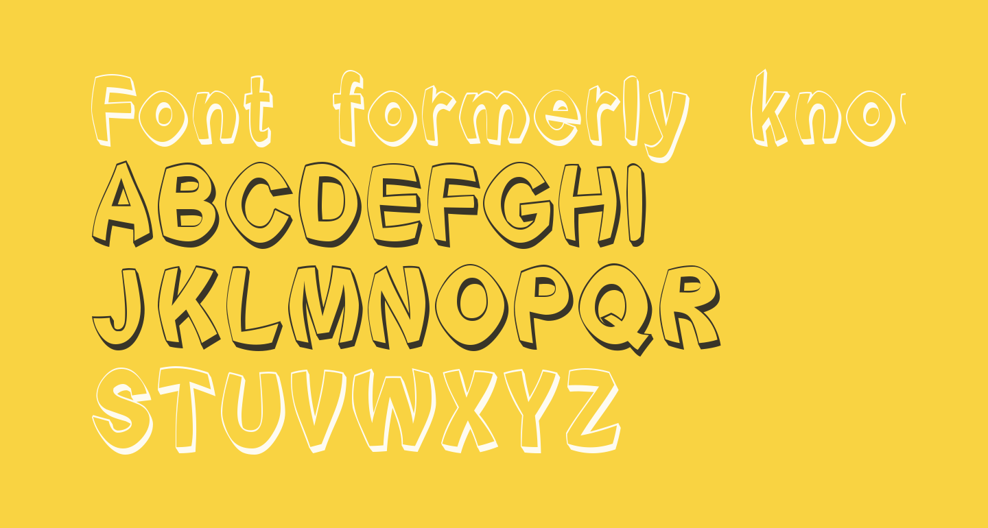 Font formerly known as FONT
