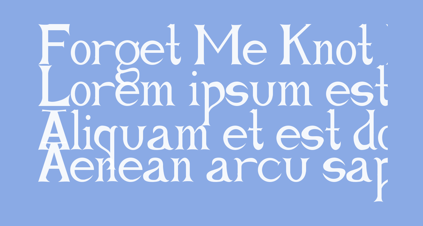 Forget Me Knot Roman
