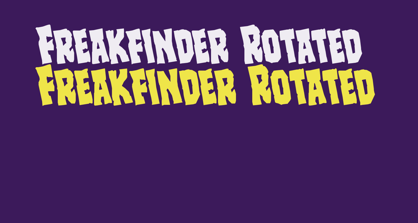 Freakfinder Rotated