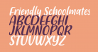 Friendly Schoolmates Italic