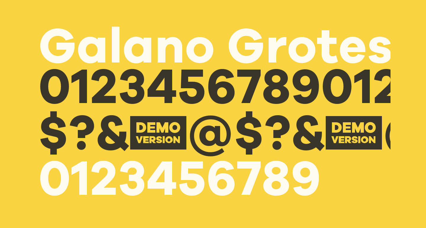 Galano Grotesque DEMO Bold