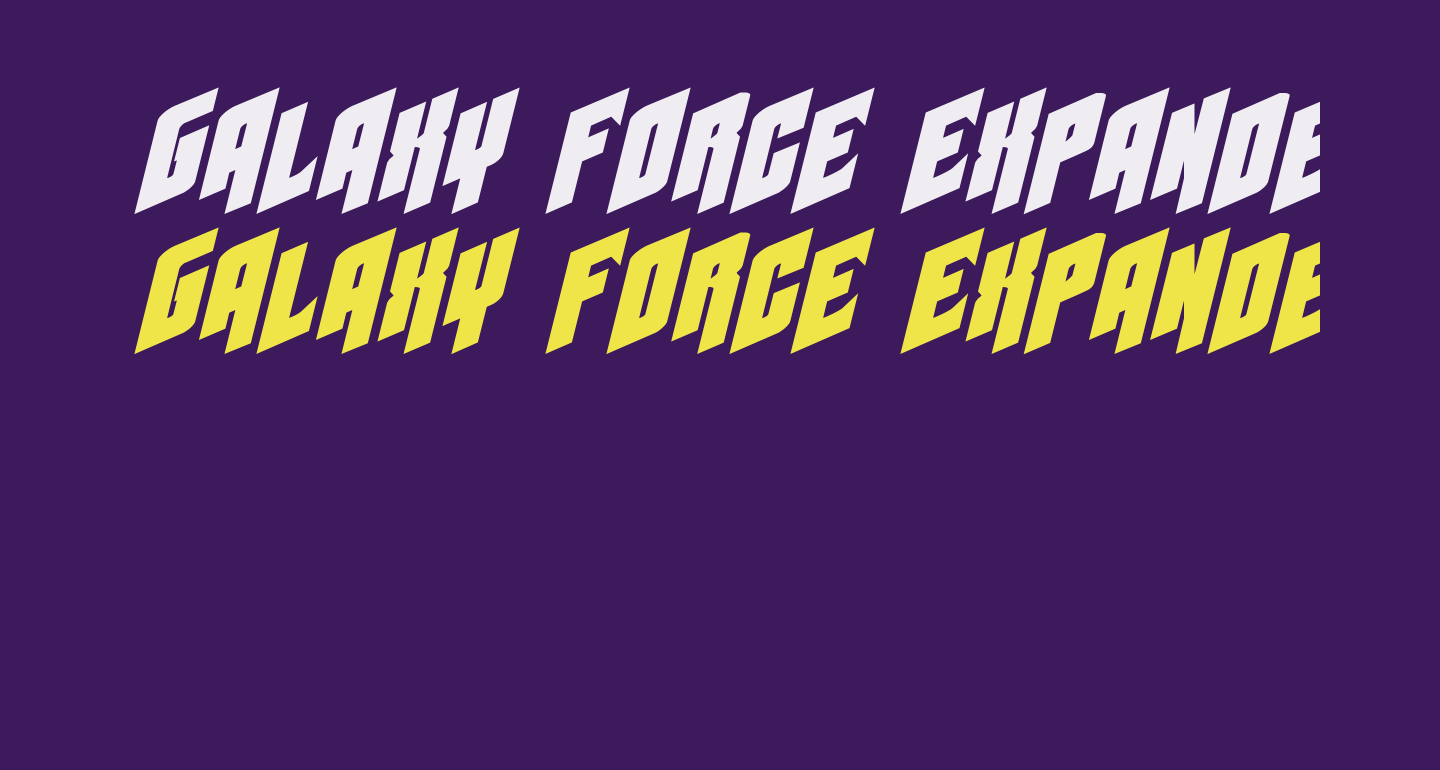 Galaxy Force Expanded Italic
