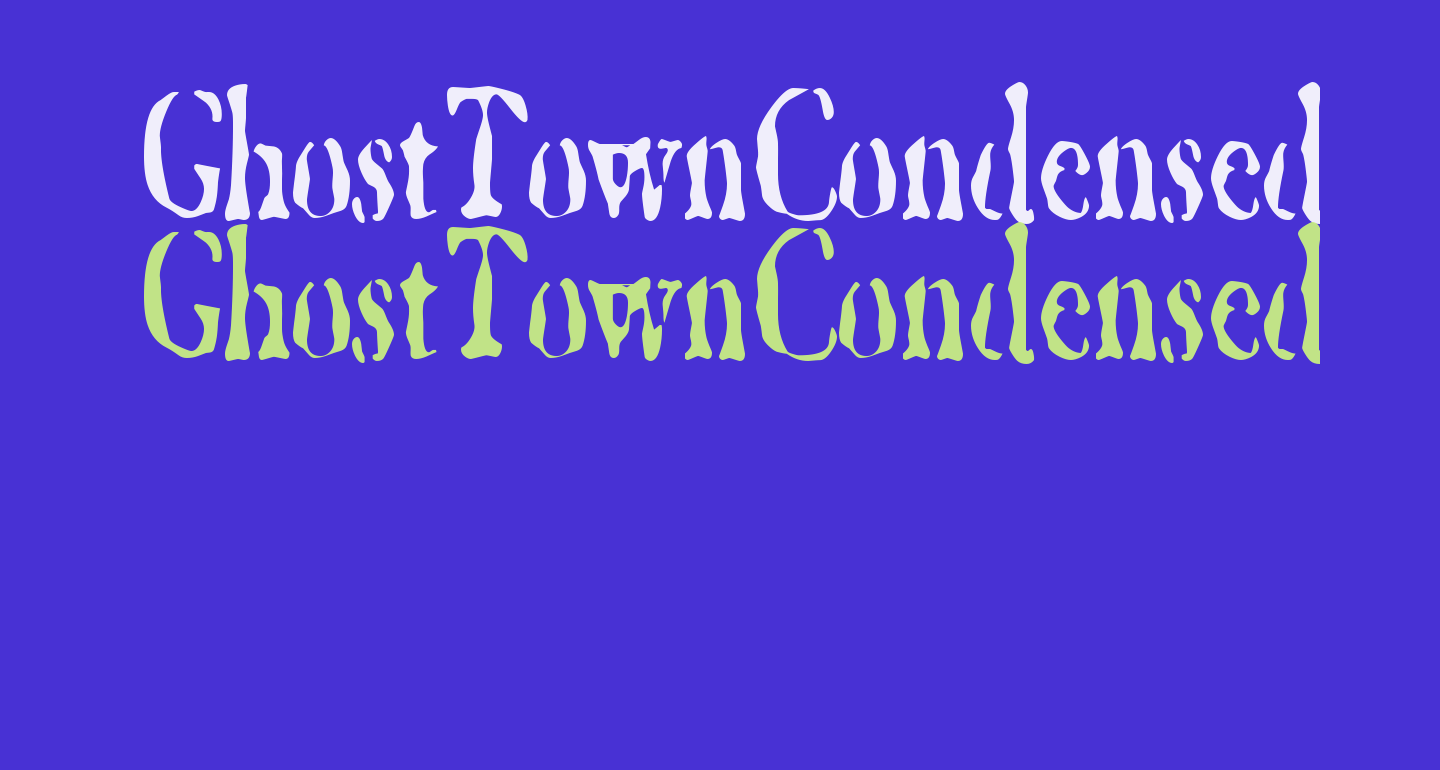 GhostTownCondensed