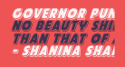Governor Punch Italic