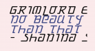 Grimlord Expanded Italic