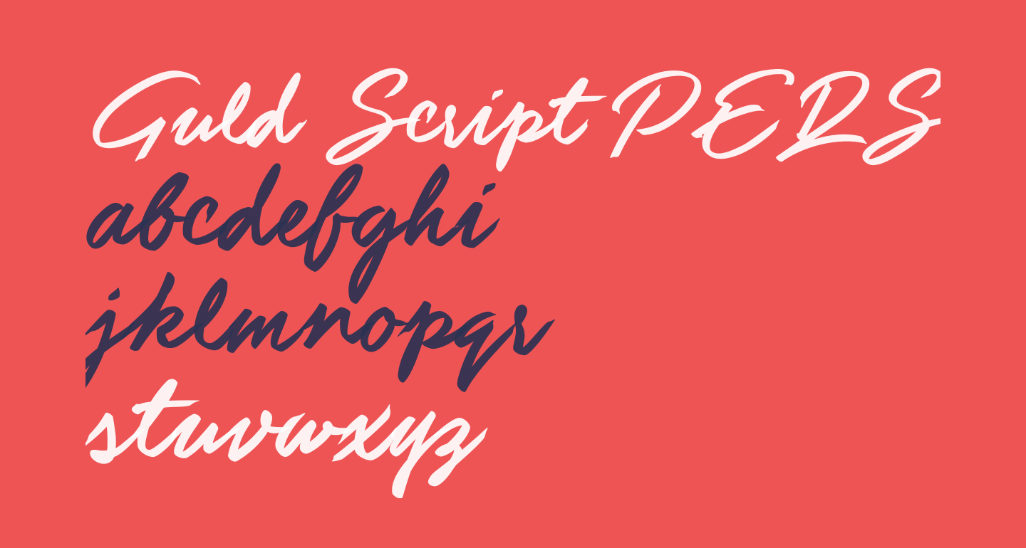 Guld Script PERSONAL USE ONLY