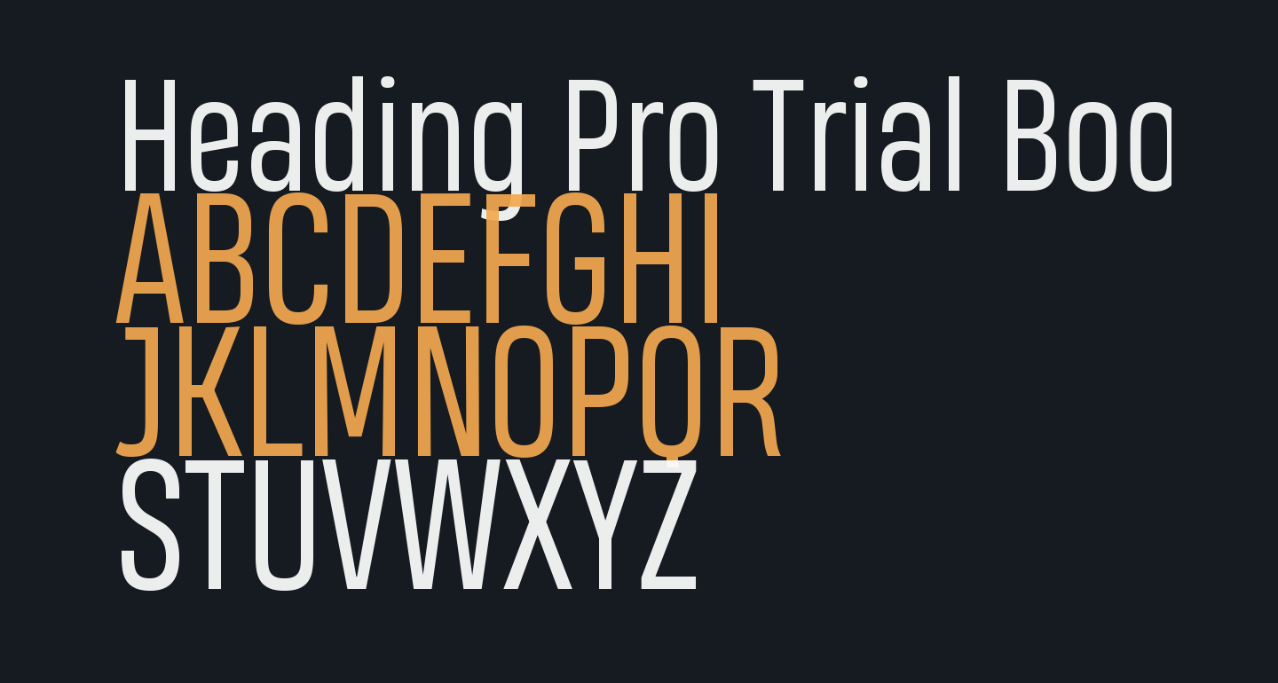 Heading Pro Trial Book